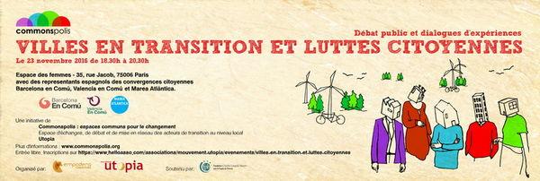 Paris: Villes en transition et luttes citoyennes